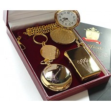 Dart Flights Cigarette Lighter Pocket Watch & Keyring