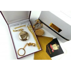 George Best Pocket Watch with 24k Gold dipped Football Boot Keyring