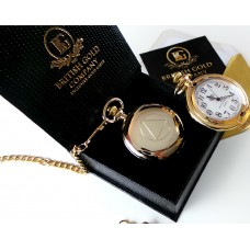 """One Day at a Time"" Gold Plated Sobriety Symbol Pocket Watch"
