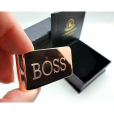 Boss Rose Gold Plated Money Clip