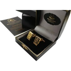 Bullion Bar Style 24k Gold Plated Cufflinks