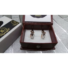 Golf Club Bag Rose Gold Plated Cufflinks