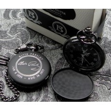 Elvis Presley Signature Matte Black Pocket Watch