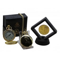 Elvis Presley Pocket Watch and Framed Colectors Coin