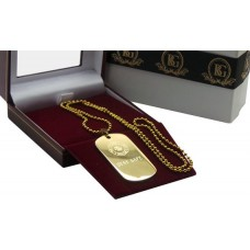 Firefighter Gold Tag Necklace