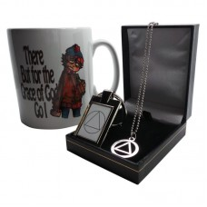 AA Alcoholics Anonymous x 3 Piece Gift Set Necklace Mug Keyring 12 STEP Sobriety