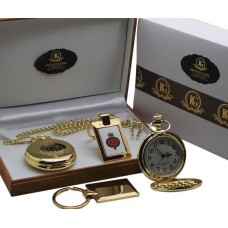 Grenadier Guards Pocket Watch and Gold Plated Keyring