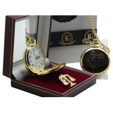Legal Scales of Justice Pocket Watch and Lapel Pin