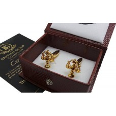 Legal Scales Gold Plated Cufflinks