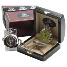 Anne Lister Pocket Watch in Polished Wood Case