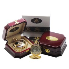 British Police Gold Plated Pocket Watch With Plaque