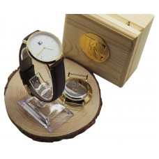 Leather Luxury Wristwatch Gift With Free Engraving On Case